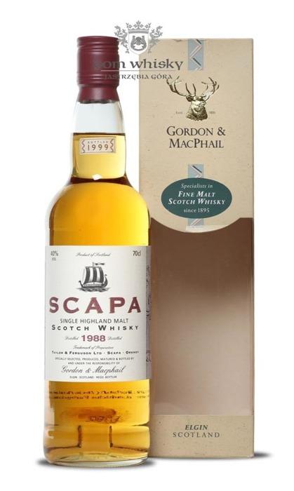 Scapa 1988 (Bottled 1999) Gordon & Macphail / 40% / 0,7l